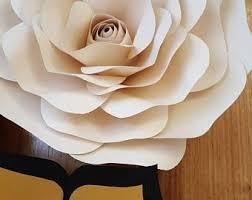 Paper Flowers Video - paper flower etsy