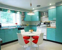 L Shaped Small Kitchen Ideas Small Kitchen In L Shaped Design With Turquoise Cabinets And White