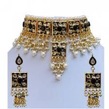 handmade necklace designs images Meena kundan beautiful pearls design gold plated wedding style jpg