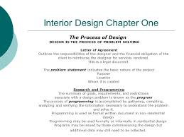 Requirements For Interior Designing Interior Design Chapter One The Process Of Design Design Is The
