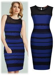 optical illusion dress free shipping women s blue black striped optical illusion