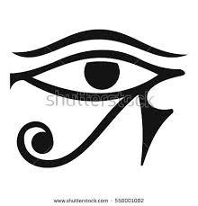 eye horus deity icon simple stock vector 550001002