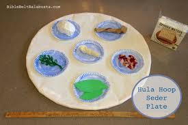 seder plate for kids hula hoop seder plate big upcycle for kids bible belt balabusta
