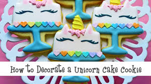 how to decorate a unicorn cake cookie youtube