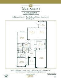 senior living floor plans waltonwood cary parkway