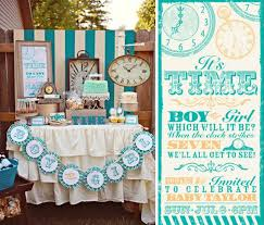 baby shower gender reveal kara s party ideas clock themed reveal gender baby shower kara s