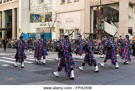 pipes and drums band marching in st patrick u0027s day parade yonkers