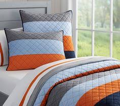 Pottery Barn Kids Quilts Blocked Stripe Quilted Bedding Pottery Barn Kids Jake U0027s Room