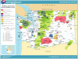 map of washington map of washington map federal lands and indian reservations