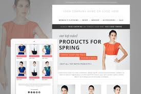 fashion e shop fashion e mail newsletter blast psd email templates creative