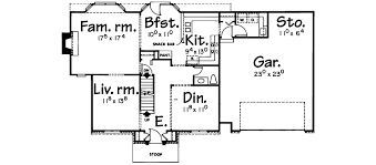 Tudor Floor Plan Malawi Colonial Home Plan 026d 1066 House Plans And More