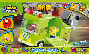 blocks cobi 6242 trash pack brix garbage truck building bricks