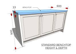 typical kitchen island dimensions standard dimensions for australian kitchens renomart