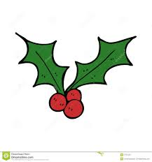 cartoon christmas holly royalty free stock photography image