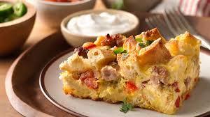 egg strata casserole southwestern egg casserole recipe bettycrocker com