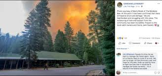California Forest images Historic california resort burns in raging donnell fire north of jpg