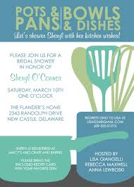 bridal shower invitations kitchen bridal shower invitations