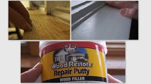 repair wood trim cat scratches wood filler