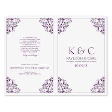 Sample Wedding Programs Outline Microsoft Wedding Program Templates
