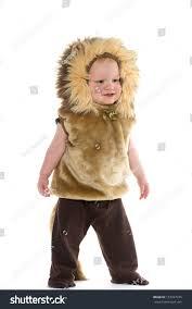 Baby Lion Costume 18monthold Baby Boy Lion Costume Halloween Stock Photo 157927745