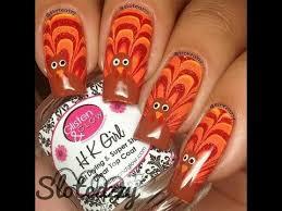 thanksgiving nail compilation turkey and pumpkin nail designs