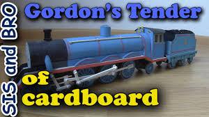 gordon tender cardboard free gift cardboard models trains