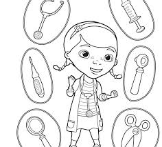 doc mcstuffins coloring pages doc and friends in doc coloring page