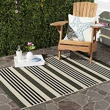 4 X 5 Outdoor Rug Amazon Com Safavieh Courtyard Collection Cy6062 216 Black And