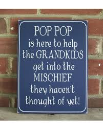 amazing deal on pop pop is here wood sign wall decor grandfather