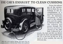 Antique Auto Upholstery Flashback Car Exhaust Vacuum Cleaner