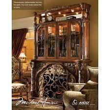 Michael Amini Office Furniture by Michael Amini Villa Valencia Electric Fireplace W Media Wall By