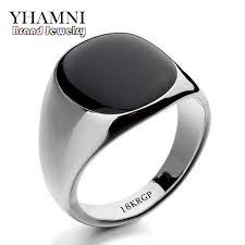 rings for men 2018 yhamni fashion black wedding rings for men brand luxury black