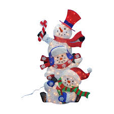 Outdoor Lighted Snowman Outdoor Lighted Decor