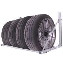 home garage workshop folding wall mount tyre storage rack loft