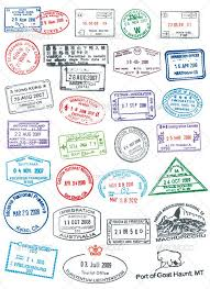 templates clipart passport stamp pencil and in color templates