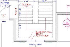 trsm floor plan basement stair wall thickness