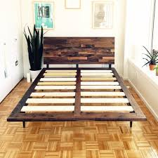 King Size Bed Platform Mid Century Solid Walnut Platform Bed Size Bed King Size