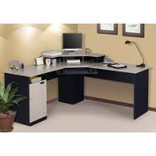Office Desk Buy Bestar Hton Corner Desk With Keyboard Shelf In Sand Granite