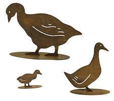 ducks metal garden ornaments ebay