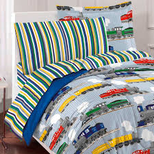Blue Full Comforter Blue Trains Bedding For Boys Twin Or Full Comforter Set Bed In A