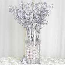 silk baby s breath 20 silver artificial silk baby breath wedding party diy crafts