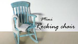 A Rocking Chair Miniature Furniture Rocking Chair Tutorial Dolls Dollhouse