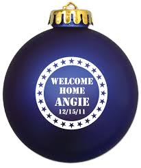 military christmas ornaments personalized