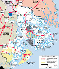 sc highway map maps of beaufort county south carolina sc where we retired to