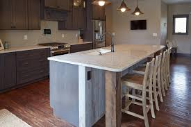 Modern Kitchen Island With Seating Plain Modern Rustic Kitchen Island Design With Marble Table Really