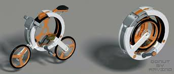 donut bike concept folds up for portability geeky gadgets