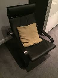 vintage ikea poang leather chair