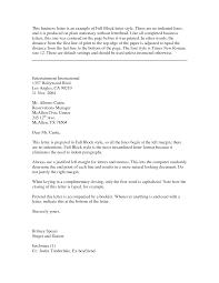 Resume Ex Sample Business Letter Block Style Resume Samples U2013 Find With