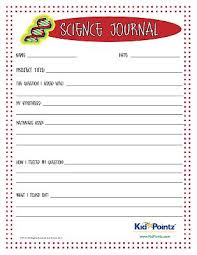 science journal worksheet for kids science experiments science