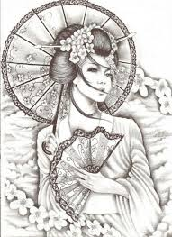 52 japanese geisha designs and drawings with images geisha